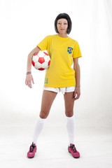 pretty model fan for brazilian world cup