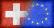 Leinwanddruck Bild - Switzerland and the EU