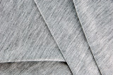 Folded gray cotton polyester texture. poster