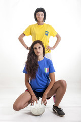 pretty models fans for world football brazil