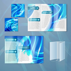 Blue brochure template