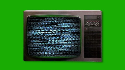 Television screen with static  turning on. Seamless Looping
