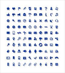 100 значков Web, медиа, 100 icons, Web, media