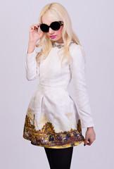 Beautiful girl in elegant dress