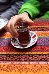 Drinking Tea in Istanbul