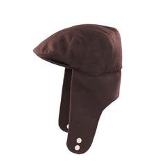 Warm autumn black headwear.