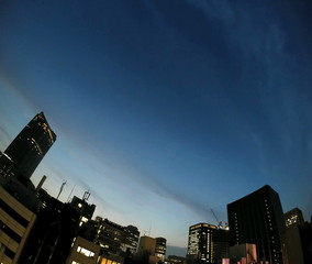 Timelapse of busy Tokyo twilight