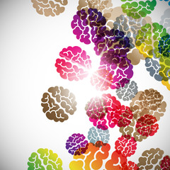 abstract background: brain