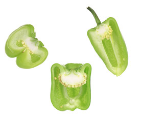 Sliced bell peppers.