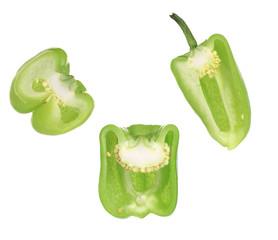Sliced bell peppers.