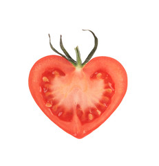 Heart-shaped tomato.
