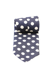Blue dotted necktie.