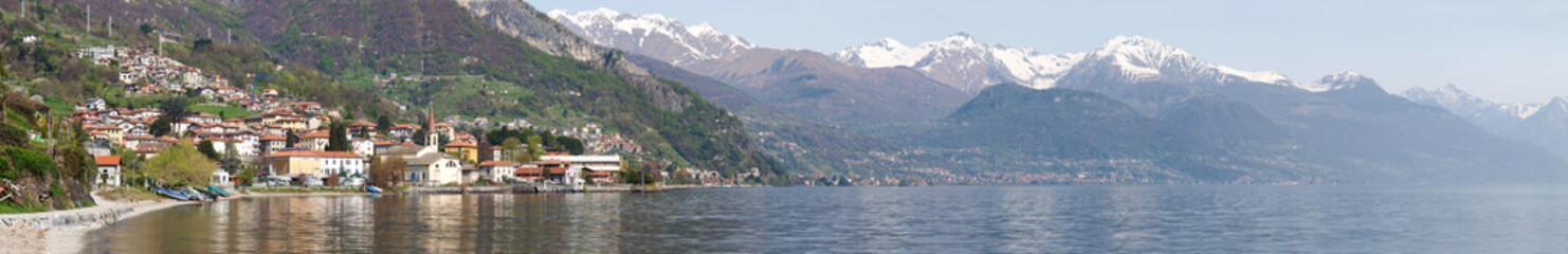the lake and the village  of Pianello del Lario