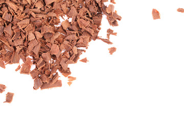 Group of chocolate shavings.