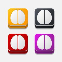square button: brain