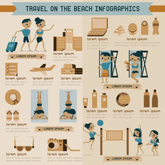 Travel on the beach info graphic
