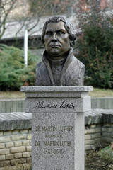 Monument to Martin Luther in Subotica, Serbia