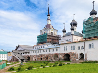 Churches in Solovetsky Monastery, Russia