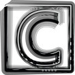 Striped Font Letter C