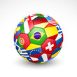 Football soccer ball with world teams flags. Vector - 65549193