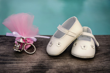 scarpe neonato per battesimo