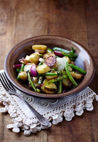Pan-Cooked Vegetables on a Plate