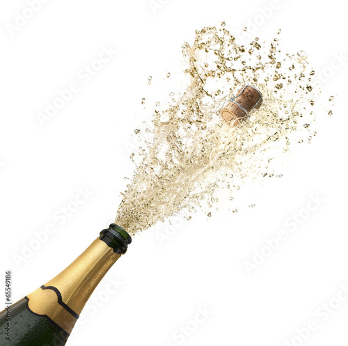 Champagnersplash vor weiss - 65549186