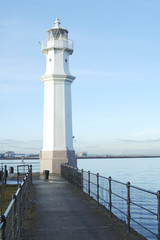 Newhaven Harbour lighthouse Edinburgh