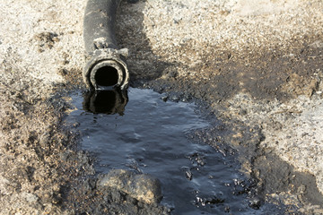 Oil lickign from pipe
