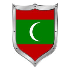 Maldives flag button.