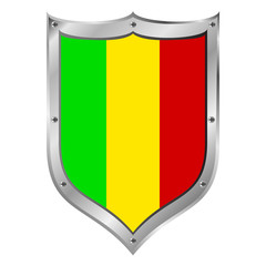 Mali flag button.
