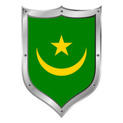 Mauritania flag button.
