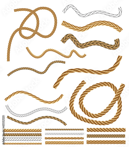 Rope Logo Vector Vector Rope Brushes With