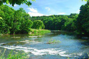 weir on river Till at Etal