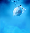 golf ball underwater