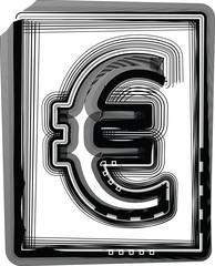Euro Striped Symbol
