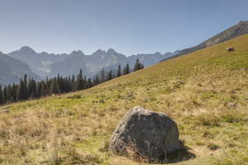 Polish landscape in Tatras mountains.