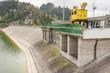 Leinwanddruck Bild - Hydropower station on Czorsztynski lake - Czorsztyn, Poland.