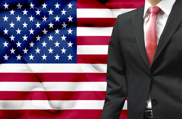 Businessman from United States of America conceptual image