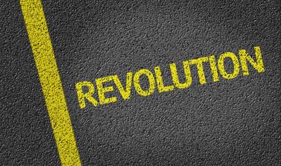 Revolution written on the road