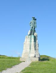 Statue de l'aviateur Hubert Latham au Cap Blanc- Nez