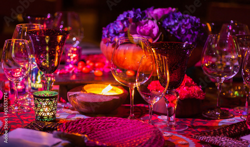 Leinwanddruck Bild Dinner Table