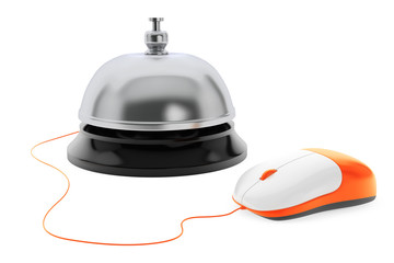 Service bell with Computer Mouse on a white