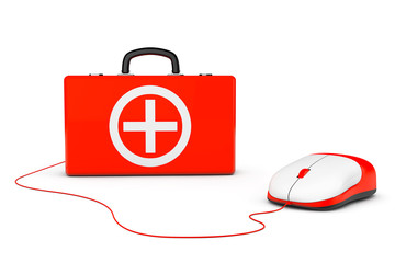First Aid Kit and computer mouse