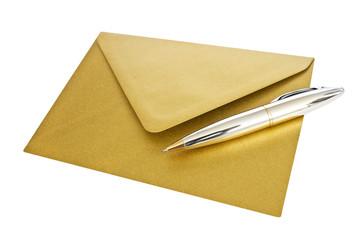 Briefumschlag - gold