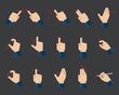 Set of flat hand  gestures for tablets and smartphones - 65555569