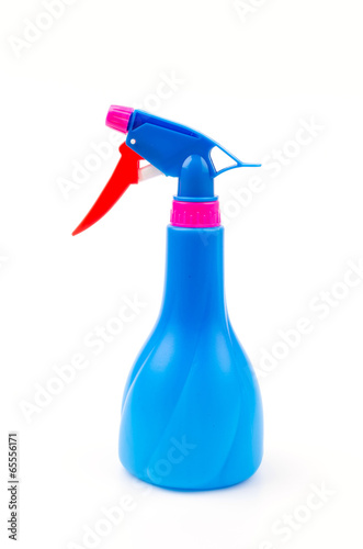 Spray bottles isolated white background