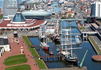 Blick auf den Museumshafen