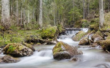 Горный ручей в Словакии, весна 2013