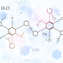 Bright Blue Chemistry Background